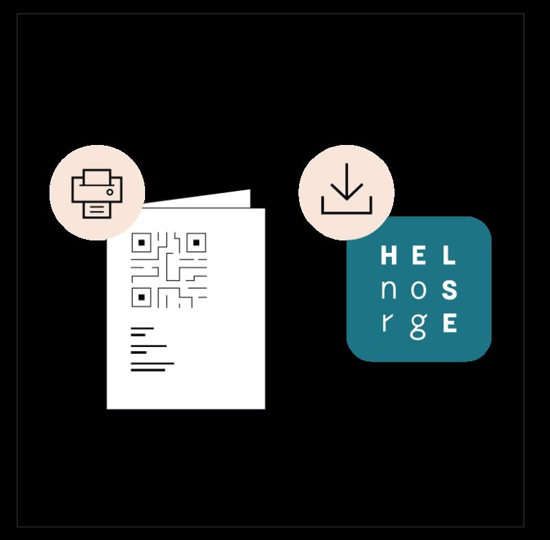 Hvis du vil vise sertifikatet ditt uten Internett-tilgang, kan du laste ned en kopi på telefonen eller skrive det ut.