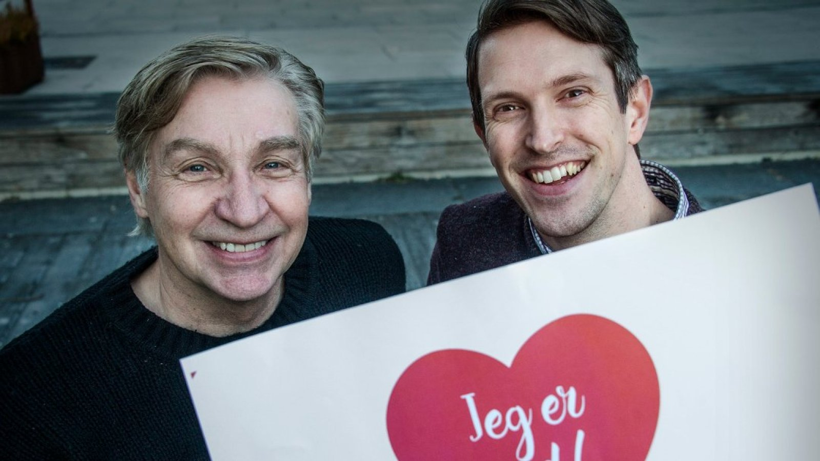 "Terje Formoe fronter ""Jeg er med""-kampanjen. Her med markedsansvarlig Svend Anders Karlsen-Moum"